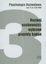 Psychologia rozwoju Tom 11 nr 3 rok 2006