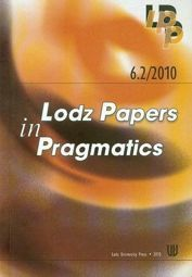 6.2/2010 Lodz Papers in Pragmatics