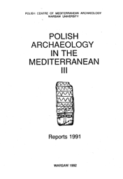 Polish Archaeology in the Mediterranean III. Reports 1991 - PDF