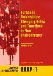 Człowiek i Społeczeństwo XXXV/1 European Universities: Changing Roles and Functions in New Environments
