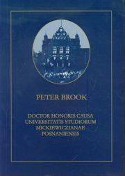 Peter Brook Doctor Honoris Causa Universitatis Studiorum Mickiewiczianae Posnaniensis