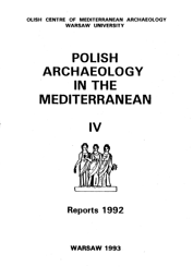 Polish Archaeology in the Mediterranean IV. Reports 1992 - PDF