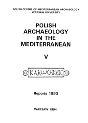 Polish Archaeology in the Mediterranean V. Reports 1993 - PDF