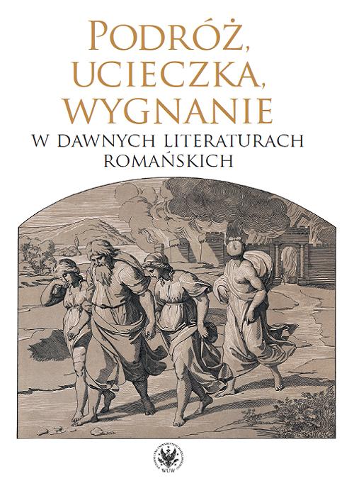 """Recenzje #158 - """"Podróż, ucieczka, wygnanie w dawnych literaturach romańskich"""" - okładka książki - Francuski przy kawie"""