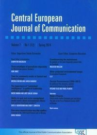 Central European Journal of Communication 7 1(12)Spring 2014