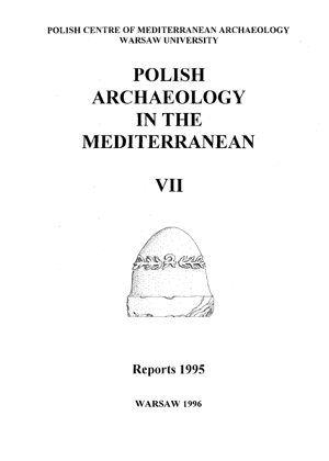 Polish Archaeology in the Mediterranean VII. Reports 1995 - PDF